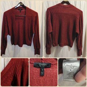 Red Acrylic/Nylon/Mohair cardigan